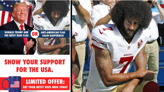 The Miami Herald reported that the National Republican Congressional Committee appeared to have darkened a photograph of NFL quarterback Colin Kaepernick that it had purchased from the Herald, which it then disseminated in a fundraising mailer.